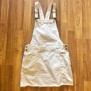 Cotton On White Denim Overall Dress